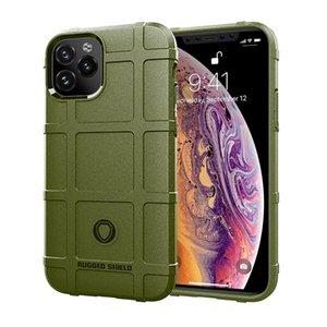 Robusto Escudo del teléfono para el iPhone 11 Pro Max XS XR 8 7plus TPU armadura antideslizante de fibra de carbono textura 3MM contraportada