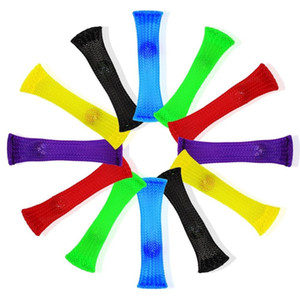 Novelty Fidget Decompression Toys Mesh Grid Belt Marble Fidgets Toy Squeeze Immediatly Relieves Stress For Sensory Kids And Adults WCW458