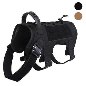 Tactical Dog Vest Plate Carrier Dogs hunting Vest Dog Clothes Adjustable Size Training Hunting Molle Dog Vest Harness