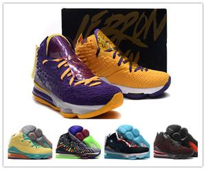 타락 2019 뉴의 deisgn 르브론 17 레이커스 남자 농구 신발 제임스 17S 확대 신선한 자란 옥 남성 신발 디자이너 운동화 잎