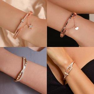 Luxury Heart Bracelets & Bangles Jewelry Fashion Watch Accessories Female Simple Star Bracelet Jewelry Gift for Women 2020 New