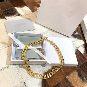 C2109 C2118 Europäische und amerikanische Mode Messing benutzerdefinierte Kette Handkettensatz Dekoration einfachen Buchstaben Joker Design Schlüsselbein Halsband