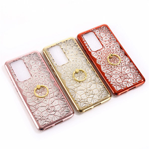 Rhinestone Case Ring KickStand Cellphone Case For Huawei P40 Luxury Bling Diamond 3D Soft TPU Backcover For Huawei P40 pro P40 lite