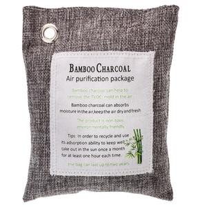 Novel-Green Charcoal Odor Eliminator Bags (12-Pack) Activated Bamboo Charcoal Deodorizer Natural Freshener Removes Odor &Moistur