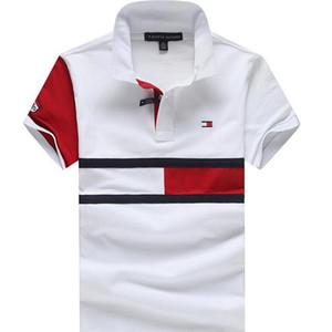 2020 Mens designer di abbigliamento Polo Marca cavallo coccodrillo ricamo uomini tessuto lettera polo collare t-shirt casuale maglietta di stampa tee shirt