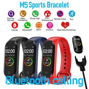 M5 schermo variopinto intelligente Banda fitness vigilanza dell'inseguitore Sport braccialetto della pressione arteriosa frequenza cardiaca Smartband Health Monitor Wristband