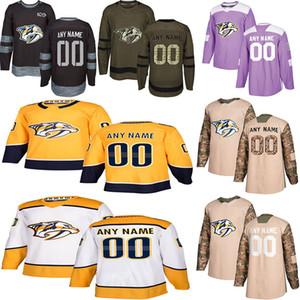 2020 Noticias de Nashville Predators camisetas de hockey múltiples estilos para hombre 32 Pekka Rinne 59 Romano Josi encargo cualquier nombre cualquier número de los jerseys del hockey