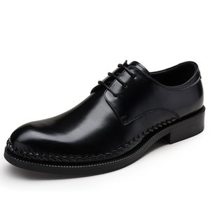 Men's Leather Shoes Wedding Shoes Round Toe Business Formal Wear Leather Shoes Cowhide Zapatos De Hombre Chaussure Homme