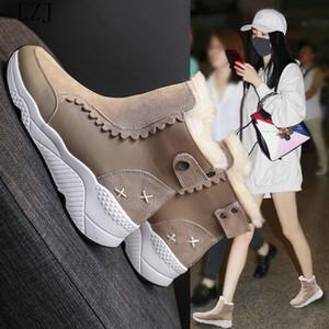 LZJ Nouveau Hiver chaud Bottes Femmes neige Boot Chaussures hiver Bottines pour femmes Chaussures Femmes 2019 Botas Feminino