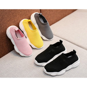 Children Designer Shoes Summer Fashion Solid Color Outdoor Sport Shoes Boys Girls Luxury Breathable Running Shoes Kids Summer Sneakers 2020