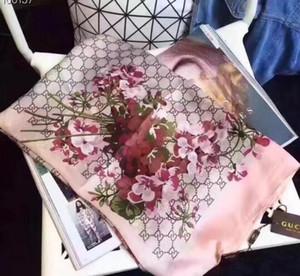 2020New di alta qualità classica sciarpa europeo e stile caldo di marca del progettista di seta di lusso americana stampataGGS dell'involucro della sciarpa signora elegante
