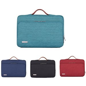 Sac Laptop Sleeve Housse de protection pour ordinateur portable Porte-documents Sac à Main 13 14 15,6 pouces Macbook Air HP Lenovo Dell Haut-Handle