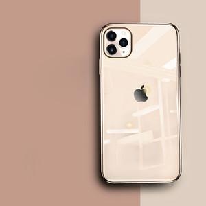 Pour iPhone 11 Pro Max Xs Max Xr X Xs 6 7 8 Vente De plus usine de verre d'origine Imité Electroplated Durcir Trempé Téléphone Shell Case