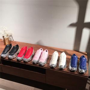 amantes do hot casuais Raf Simons sapatos extragrandes, Sapatos Ozweego em Silver Metallic efeito dip Sole Esporte Formador Multicolor Tamanho 35-45