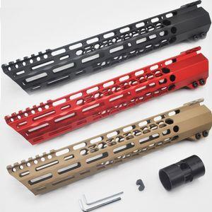 12 ''인치 길이 MLOK 클램핑 무료 총열 덮개 레일 피카 티니 마운트 시스템 MLOK Hunting_Black은 / 레드 / 탄은 부드러운 플로트