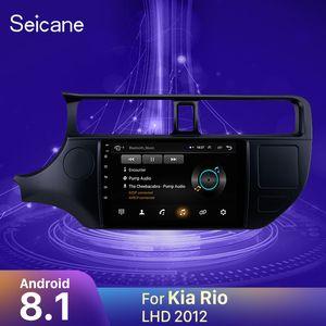 Seicane Für Kia Rio 2012 Linkslenker-Autoradio Multimedia Video Player Navigation GPS Android 8.1 Unterstützung Backup-Kamera 2din Auto-DVD