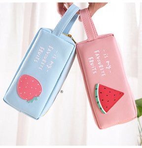 South Korea small fresh simple large capacity students pencil bags men's and women's stationery bags creative children's fruit