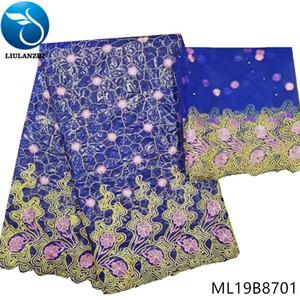 LIULANZHI nigerian bazin lace fabrics Fashion embroidery bazin riche fabric for women african riche getzner 7yards lot ML19B87