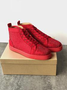 Designer-Schuhe Spikes Rote Unterseite Turnschuhe schuhe Leder lässige Sneaker Schuhe Pik Pik verzierte Turnschuhe Größe 13 mit Kasten c20 c14 mens