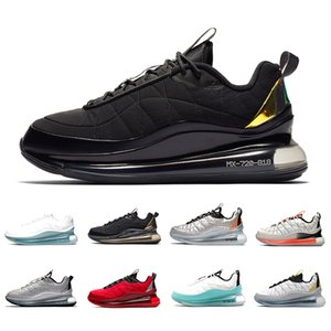 Nike air max 720-818 airmax Stock X Black Magma 720-818 Mens Running shoes Metallic Silver Bullet Clean White Aqua CNY 720s Men Women Sports Designer sneakers 36-45