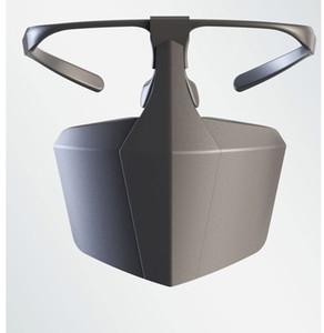 Nuevas máscaras de saliva aislamiento de bloque de máscara de protección de moda se pueden usar con lentes enmascarar el equipo de protección partido de la máscara A551