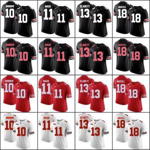 Personalizado 2019 Ohio State Buckeyes College Football Qualquer Nome Número Branco Vermelho Cinza Preto Camo 1 Campos Dobbins Olave Haskins George OSU Jersey