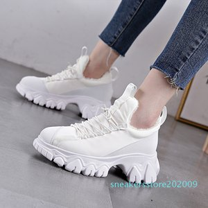 RASMEUP 2020 Winter Fashion Brand Style Winter Women's Chunky Sneakers Women Platform Shoes 34-39 Size Ladies Sneakers s09