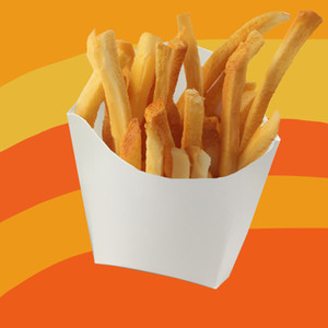 Jetable Français Frites Boîte Blanc Boîte D'emballage frit Poulet collation sac de qualité alimentaire papier résistant à l'huile boîte D'emballage Chien Sac 100 pc