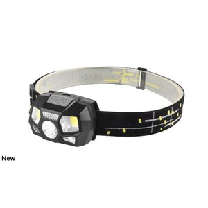 LED Headlamp Motion Sensor Ultra Bright Hard Hat Head Lamp Powerful Headlight USB Rechargeable Waterproof Headlamp LJJZ435