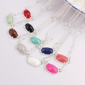 Kendra Spring Style Abalone Shell Faceted Oval Resin Stone Stone Short Chain Choker Collar Collar llamativo para mujeres 2019 Fashion Trend Jewelry