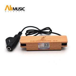 Adeline AD-33 Acoustic Guitar transdutor eléctrico Soundhole captador com o Real Beech madeira maciça