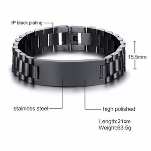 To My Son Deep In Your Heart Love Dad Stainless Steel Men Watch Band Link Bracelet Brackelts Brazalet Armband Assorted Colors