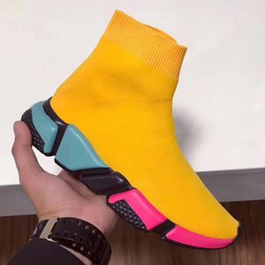 New Luxury Designer Sock Shoes Speed Trainer Stretch Knit Mid Sneakers Fashion Men Women Sock Shoe Outdoor Lovers Casual Boots QW6