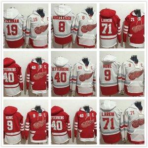 Mens Centennial Classic Dylan Larkin 9 Gordie Howe Steve Yzerman Justin Abdelkader 40 Henrik Zetterberg alas rojas de Detroit sudaderas Sweatshir