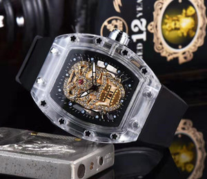 Nuovo per il tempo libero degli uomini della vigilanza di stile RICHARD lusso di scheletro di modo orologi donne degli uomini della vigilanza del quarzo Big Bang caldo Man Watches