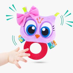 Bambino neonato peluche Rattle ha farcito il giocattolo a mano Massaggiagengive Afferrare animale sveglio Campanella Anello I neonati che lo sviluppo iniziale delle ragazze dei ragazzi regalo