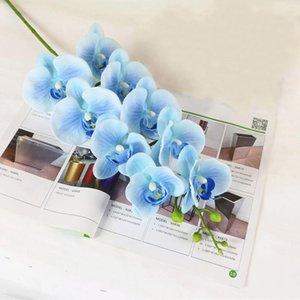 Künstliche Pflanze Hochzeit Geschenk Phalaenopsis Leichte Startseite Party Supplies Simulation Orchid Easy Care Ornaments Craft 9 Blumen