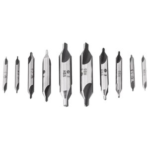 10Pcs Lot Combined Countersink Bits 60 Degree Center Drill Set Hss Metal Drilling Power Tools Lathe Milling Cutter Tool