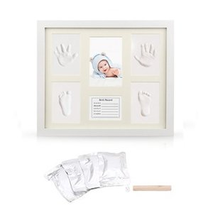 Hand & Footprint Makers Newborn Handprint Kit Footprint Keepsake Frames With English Card Baby DIY Gifts Memorable Decorations