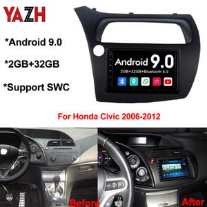 Android 9.0 Car DVD GPS Navigation For Honda Civic 2006-2012 Head Unit Display With Bluetooth 5.0 Car Auto Radio Multimedia