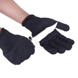 1 Paar Schwarz Weiß Arbeitsschutzhandschuhe Cut-Resistant Hände Schutz Edelstahl-Draht Butcher Anti-Schneiden Handschuhe