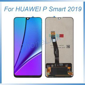 Çerçeve HUAWEI POT LX1 L21 LX3 dokunmatik digitizer grubunun değiştirilmesi ile HUAWEI P akıllı 2019 lcd ekran değiştirme için