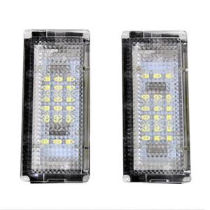 2X Error Free LED License Plate Lights 18 SMD3528 6000K Number Plate Light Fit For E46 4D 4Doors 323i 325i 328i 1999-2003 5D 1998-2005