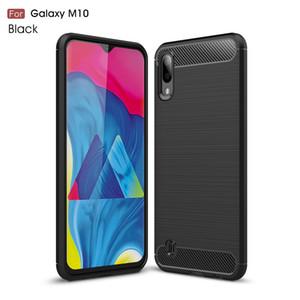 Estuche blando de fibra de carbono con cepillo delgado ultra delgado para Samsung Galaxy M10 M20 A10 A30 A40 A50 A70 A20E A60 S10 Plus S10e