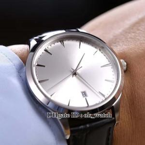 NEU 41mm Master Ultra Thin Date 1288420 Q1288420 Japan Miyota 8215 Automatic Herrenuhr 316L Stahl Silber Zifferblatt Lederband besten Uhren