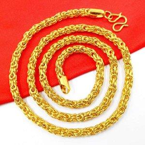 Костные мужские вьетскостные песчаные покрыты Новые 24K Gold Snake Gold ожерелье изысканные украшения Chako