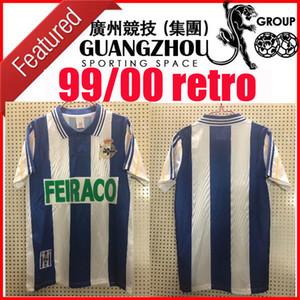 1999 2000 Deportivo de La Coruña retro Fußball-Trikot 99 00 Deportivo La Coruna VALERON Makaay bebeto BITINHO klassischen Vintage-Fußballhemd