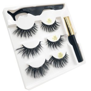Mix w-2 3 pairs Hot Selling magnetic eyelashes tweezer magnetic waterproof eyeliner with gift box private label