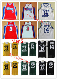 Herren # 3 Calvin Cambridge wie Mike Los Angeles Knights Basketball Jersey # 25 Carlton Banken # 14 Will Smith the Fresh Prince von Bel-Air Jersey