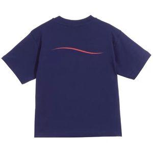 Мода дети Поло футболка дети короткие рукава волнистые полосы Детские футболки мальчики топы одежда письмо принты тройники девушка хлопок футболки